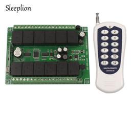 $enCountryForm.capitalKeyWord Canada - Wholesale-Sleeplion DC 12V 12 CH Channel Relay Wireless RF Remote Control Switch Transmitter+Receiver