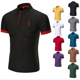 Discount polo sport red - Men Polo Shirt Summer Sport Men's Solid Shirts Golf Training Running Sports Short Sleeve Tops Tees jerseys T Shirts