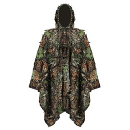 8d4e297919f02 Hunting Clothes New 3D Jungle Camouflage Ghillie Suits Set Bionic Leaf  Outdoor Sniper Camo Woodland Birding Suit