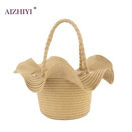 Women Summer Straw Woven Handbags Girls Hat Shaped Beach Casual Drawstring  Retro Bucket Totes For Travel Vacation Casual Simple affordable straw  handbags ... e6a870c3d4f9d