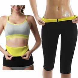 Discount hot girls yoga pants - New Tracksuit For Women 2 Piece Yoga Set Neoprene Slimming Belt+Pants Sports Suite Hot Ladys Fitness Sport Suit Girls Sp