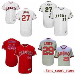 34d7b7c33 2019 Men s 27 Mike Trout 29 Rod Carew 44 Reggie Jackson 100% Stitched Jersey
