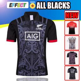 d1273bdb2 Best Quality New Zealand All Blacks Rugby Jerseys 17 18 19 Season All Black  Maori Mens Rugby Football Jerseys 2017 2019 Size S-XXXL