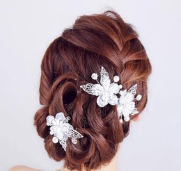 Silk White Rose Leaves Canada - Handmade Diamond Beads, flower leaves, headgear, hairpin, bride accessories, accessories