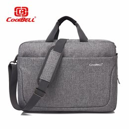 nylon briefcases men UK - Cool Bell Brand Nylon Waterproof Men Women Business Briefcase Fashion Shoulder Bag 17.3 inch Laptop Computer Notebook Bag 17