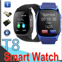 $enCountryForm.capitalKeyWord Australia - T8 Bluetooth Smart Pedometer Watches Support SIM &TF Card With Camera Sync Call Message Men Women Smartwatch For Android ET8 50 Packs