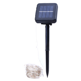 Wired Lights UK - Solar Powered String Lights 20M 200 LEDs Copper Wire Outdoor Fairy Light for Christmas Garden Home Holiday Decorations