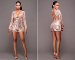 9097928a2e Womens Sequin Sexy Jumpsuit NZ | Buy New Womens Sequin Sexy Jumpsuit ...