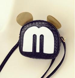 $enCountryForm.capitalKeyWord NZ - Fashion Handbags Pu Leather Women Shoulder Bag Mickey Big Ears Shell Sweet Bow Chains Crossbody Female Mini Small Messenger Bag