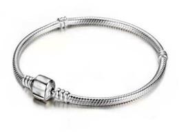 23cm Silver Bracelets Australia - New Fashion Love Snake Chain Silver Color Fit Original Charm Bracelet Bangle Charm Bead For Women Gift 16CM-23CM TO265