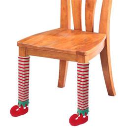 Christmas Chair Leg Socks Home Furniture Leg Floor Protecting Cover Non-slip Table Legs Cover Furniture Accessories Furniture Legs