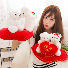 $enCountryForm.capitalKeyWord Canada - Creative cute LOVE puppy LOVE bear dolls stuffed animals toys valentine's day gift plush toys wholesale