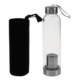 550 ml Sıcak Cam Spor Su Şişesi Çay Filtre Demlik Ile Koruyucu Çanta Yeni Yaz Moda Sıcak indirimde