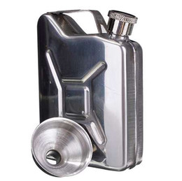 alcohol bottle caps Canada - Hot 5oz Stainless Steel Funnel Liquor Funnel Wedding Party Bar Drink Bottle Hip Flask Liquor Whisky Bottle Drinkware Alcohol Cap