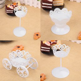 Discount iron cake stands - Hollow Designed Steel Wedding Dessert Iron Cake Stand Display Party Decor Cake Stand Holder Home Desktop Deco