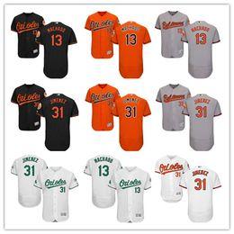 85e70e40b custom Men s women youth Baltimore Orioles Jersey  13 Manny Machado 31  Ubaldo Jimenez Orange Grey White Baseball Jerseys