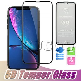 $enCountryForm.capitalKeyWord Australia - 5D Full Body Film Tempered Glass For Iphone X Full Cover Film Screen Protector For iPhone XS MAX XR 6 6S 7plus 8plus Without Package