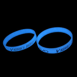 $enCountryForm.capitalKeyWord Australia - Novelty Party LED rave toy Customized glow in the dark silicone bracelets wristband for kids. adult promotional gift,sports band