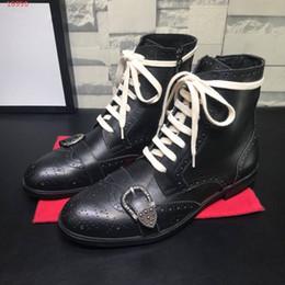 Fashionable Flat Shoes Laces Canada - Leather men's boots autumn winter short boots fashionable shoes tie LACES men's shoes high quality Martin men's shoes