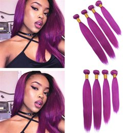 $enCountryForm.capitalKeyWord NZ - Silky Straight Virgin Indian Purple Human Hair Weave 4 Bundles Light Purple Hair Double Wefts Extensions 400g Lot Mixed Length