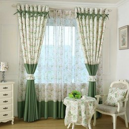 Small curtainS online shopping - Window Small floral printed Curtain For Kitchen Blackout green Curtains Window Drape Panels Treatment Home Decor Floral