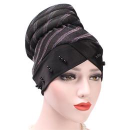 $enCountryForm.capitalKeyWord Canada - Women's Luxury Velvet Turban Hijab Head Wrap Headband Pearl Pleated Long Head Tube Indian Wrap Hijab Tube Scarf Tie
