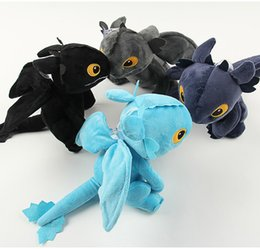 Discount movie night gift - 4 Color 20cm How to Train Your Dragon Plush Doll Toys 2018 New Night Fury Toothless Dragon Action Figure Toys kids Gift
