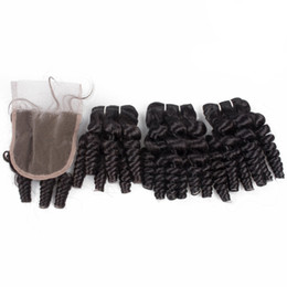 Discount romance curls human hair weave - Aunty Funmi Curly Human Hair Weave with Lace Closure 4x4 Indian Aunty Funmi Hair Romance Curls Extensions With Closure P