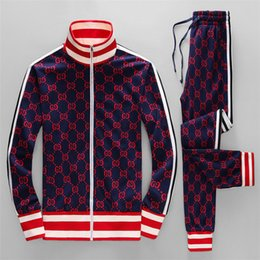 Chinese  Fall new mens luxury designer letter printing sweatsuit tracksuits ~ tops mens training jogging sweat track suits fhgght gffds manufacturers