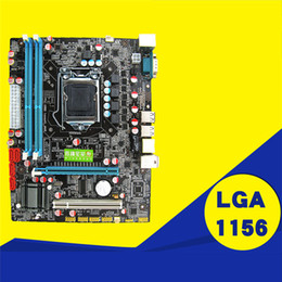 China P55 Motherboard CPU Computer Supplies LGA 1156 Pin 2*DDR3 1*RJ45H55 Desktop Motherboard with USB Port High Quality suppliers