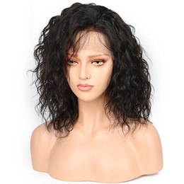 $enCountryForm.capitalKeyWord Australia - 150% Density Short Bob Formal hair Loose Curly Wave Lace Front Human Hair Wigs-Glueless Brazilian Virgin Remy Wigs Full Lace with Baby Hair