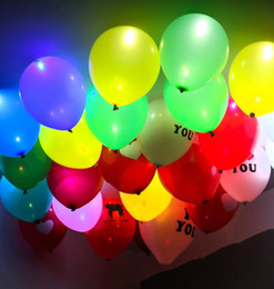 Glow Party Decorations NZ - LED Glowing balloon Flash LED Balloon For Wedding Celebration Party Bar Decoration Light Up balloon flashing