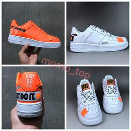 2018 New Men Shoes Women Low Sports Shoes Just do it White Orange Running Shoes Low Air 1 Classic Wild Chaussures Designer Zapatos clearance online official site cheap 2014 with paypal for sale sale fashion Style W0PjqjMw