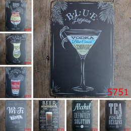 RetRo home baRs online shopping - Vintage Metal Tin Signs For Wall Decor Mojito Beer Iron Paintings cm Metal Signs Tin Plate Pub Bar Garage Retro Home Decoration