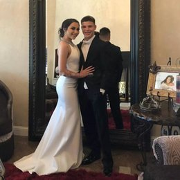 ea58684f8af White Wedding Dress Royal Blue Trim NZ - Cheap Black Men s Prom Dresses One  Button Notched