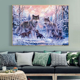 Package Devoted Free Ship Snow Leopard Counted Cross Stitch Dmc 11ct 14ct Cross Stitch Diy Cross Stitch Kit Embroidery For Home Decor Needlework Home & Garden