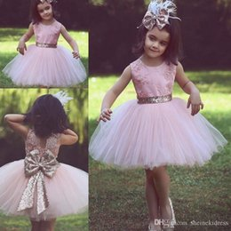 $enCountryForm.capitalKeyWord Australia - Pink Lovely Girl's Pageant Dresses Princess Cloud Ball Gowns Ruffles Tulle V Neck with Beads Belt Child Cupcake Party Gowns