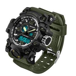 Men Digital Wrist Watches Canada - 2018 SANDA Men's Military Sport Watch Men Top Brand Luxury Famous Electronic LED Digital Wrist Watch Waterproof Dive Climbing Wrist Watches