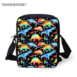 Discount rainbow shoulder bags - Twoheartsgirl Fashion Messenger Bags for Girls Rainbow Dinosaur Print Crossbody Bag Women Girls Casual Small Kids Should