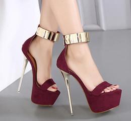 Tobillo Correa Tacones Plataforma Sandalias Zapatos de fiesta para mujeres  Bombas de boda 16 cm Tacones altos Con lentejuelas Sandalias de gladiador  Negro e2d1a1453685
