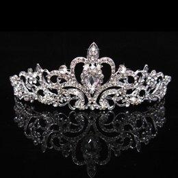 Brand New Nupcial Do Casamento de Cristal Rhinestone Cabelo Headband Princesa Coroa Pente Tiara Prom Pageant 1 Pc Frete Grátis HJ225 em Promoção