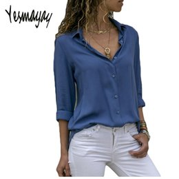 $enCountryForm.capitalKeyWord Canada - Autumn Blouse Women Solid Womens Tops And Blouses Big Sizes Plus Size 2018 Chiffon Blouse Long Sleeve Work Wear Office