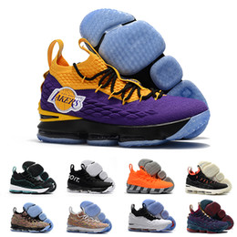 Griffey Lebron James 15 Lakers Purple Rain Diamond Turf Men Basketball Shoes  Lebrons 15s Equality Mens XV Casual Trainer sports Sneakers 0e74ae30793e