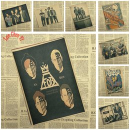 rock band stickers 2019 - Fall Out Boy Rock Band Music Kraft Paper Poster Vintage High quality Printing Drawing core Decorative Painting discount