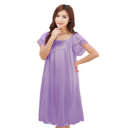 baccb0d3994ff Maternity clothes sleepwear nightdress long silk nightgowns pajamas for pregnant  women nightclothes maternal pajama plus size