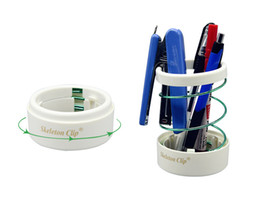 wire cup holder UK - Fashion Multifunction Hollow Spring Pen Stand Pencil Holder Scalable Spring Steel Wire Pen Storage Cup Pen Container Office School Supplies