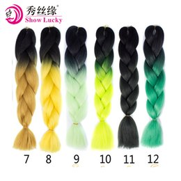 Ombre Kanekalon Jumbo Braid Hair UK - Ombre Kanekalon Jumbo Braids Hairstyles Hair For Russian Women Colors Synthetic Braiding Hair 24'' 100g