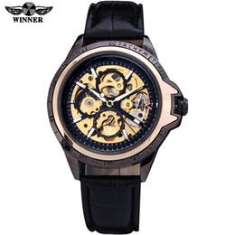 $enCountryForm.capitalKeyWord Australia - Winner Brand Automatic Mechanical Wristwatches Fashion Black Leather Band Skeleton Watch Men Gear Reloj Army Hombre Horloge SLZ28