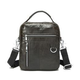 Handbag Small Fashion Man UK - TOP POWER Men Bag 100% Genuine Leather 2017 Hot Sale Fashion Men Leisure Small Crossbody Shoulder Handbag Men's Travel New Bag