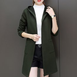 Long Sweater Women Cardigan Lady s Sweater Woman s Coat Feminine Clothes  Top Female Knitted Korean Style Jumper Autumn Winter F8 7f59a79ca